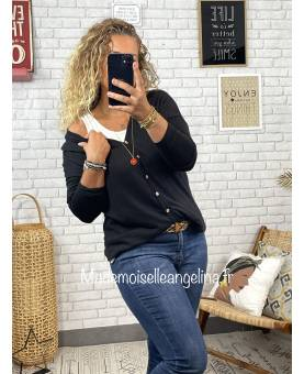 BLOUSE MOUTARDE ET MARINE - MARIA